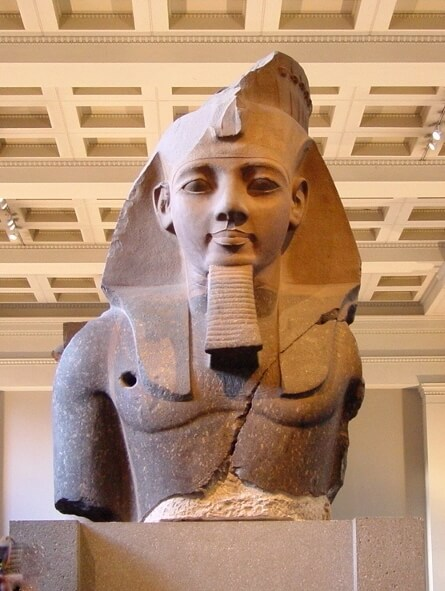Bust of Rameses the Great in the British Museum London