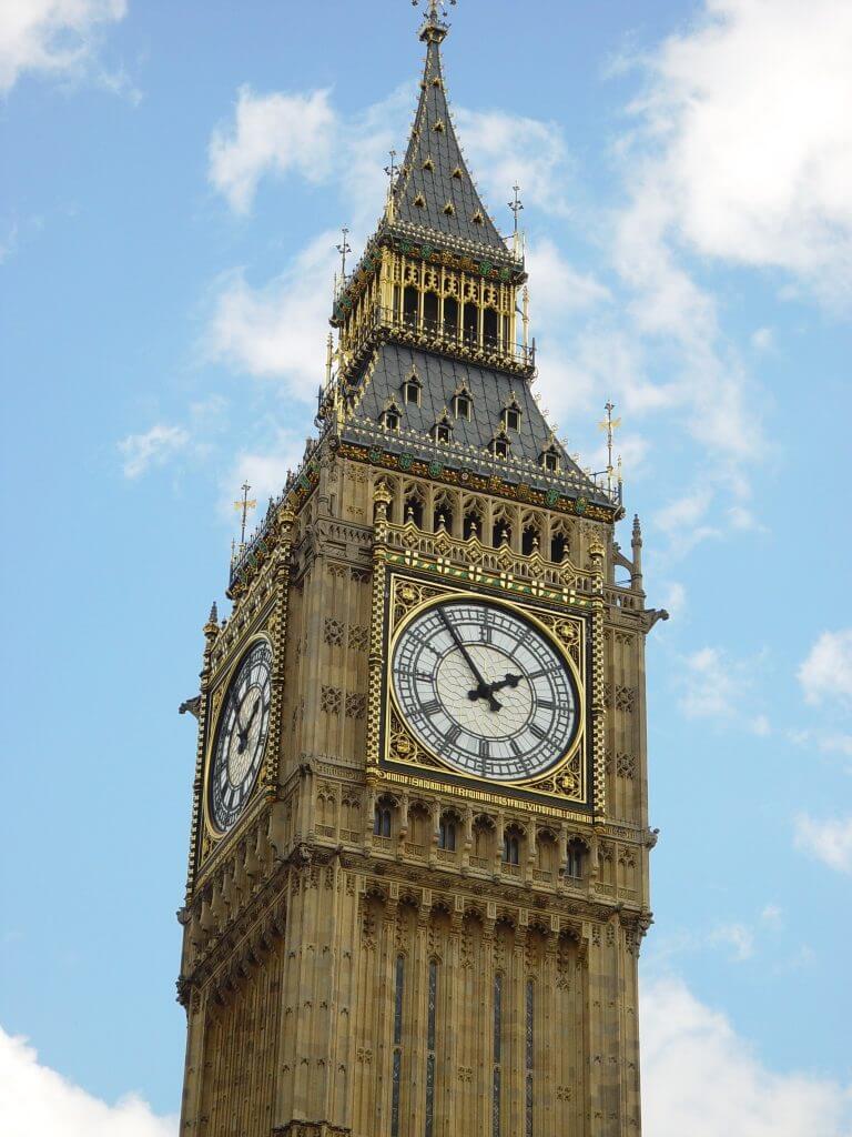 Portrait photo of Big Ben clock face
