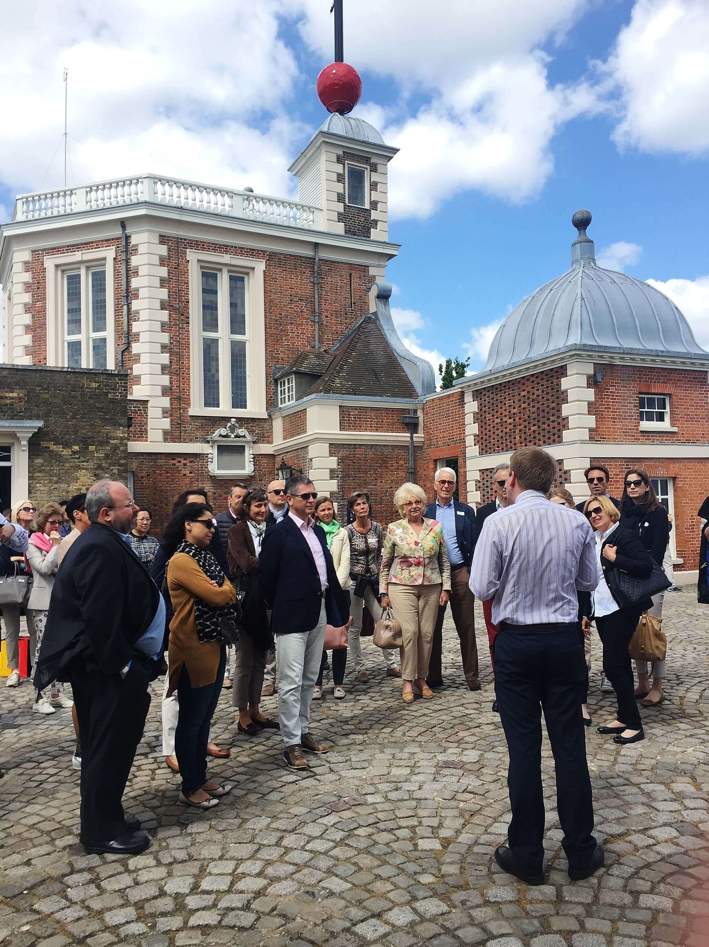 Group on a guided tour of the Royal Observatory Greenwich