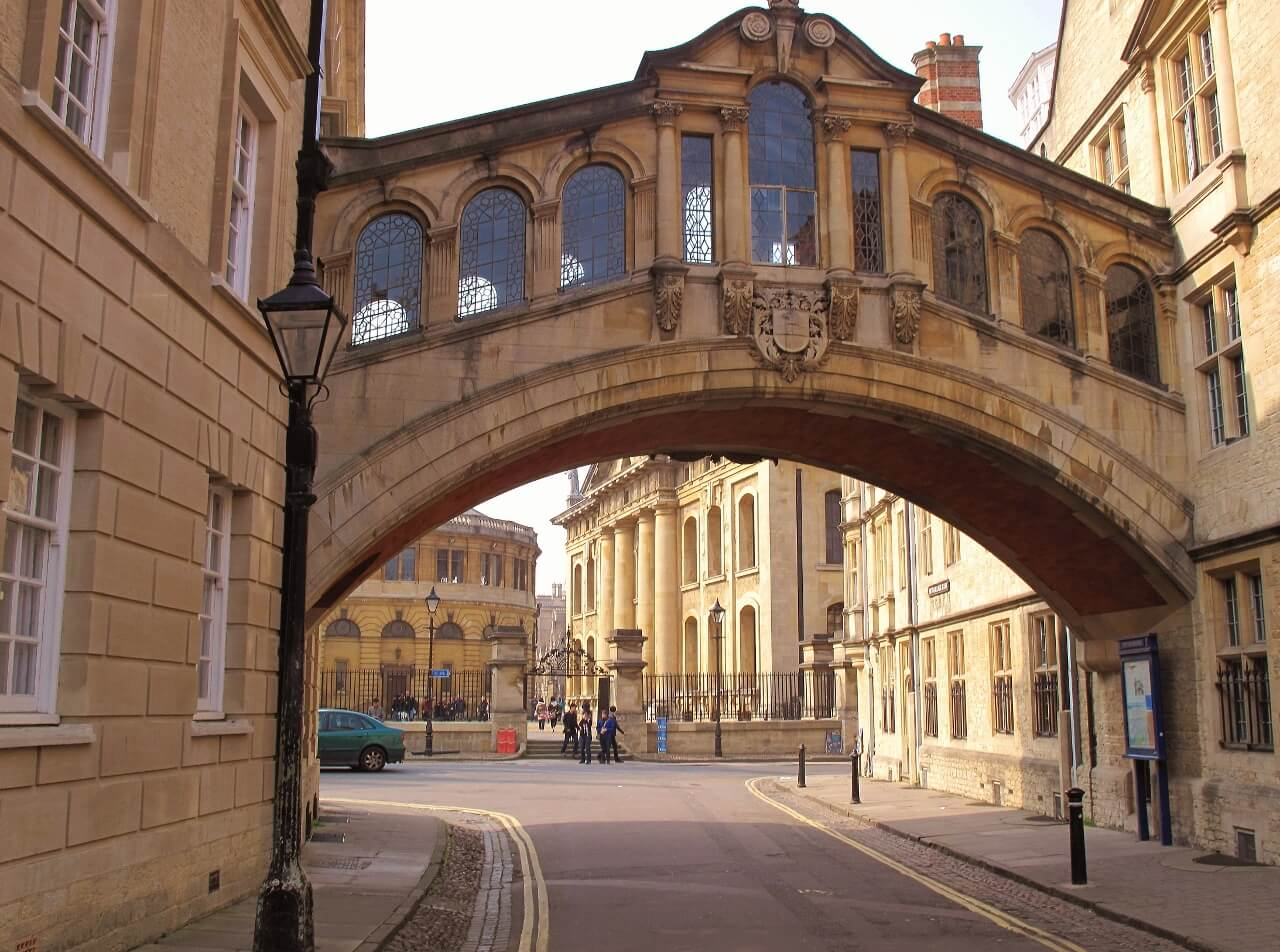 View of Bridge of Sighs of Hertford College Oxford University
