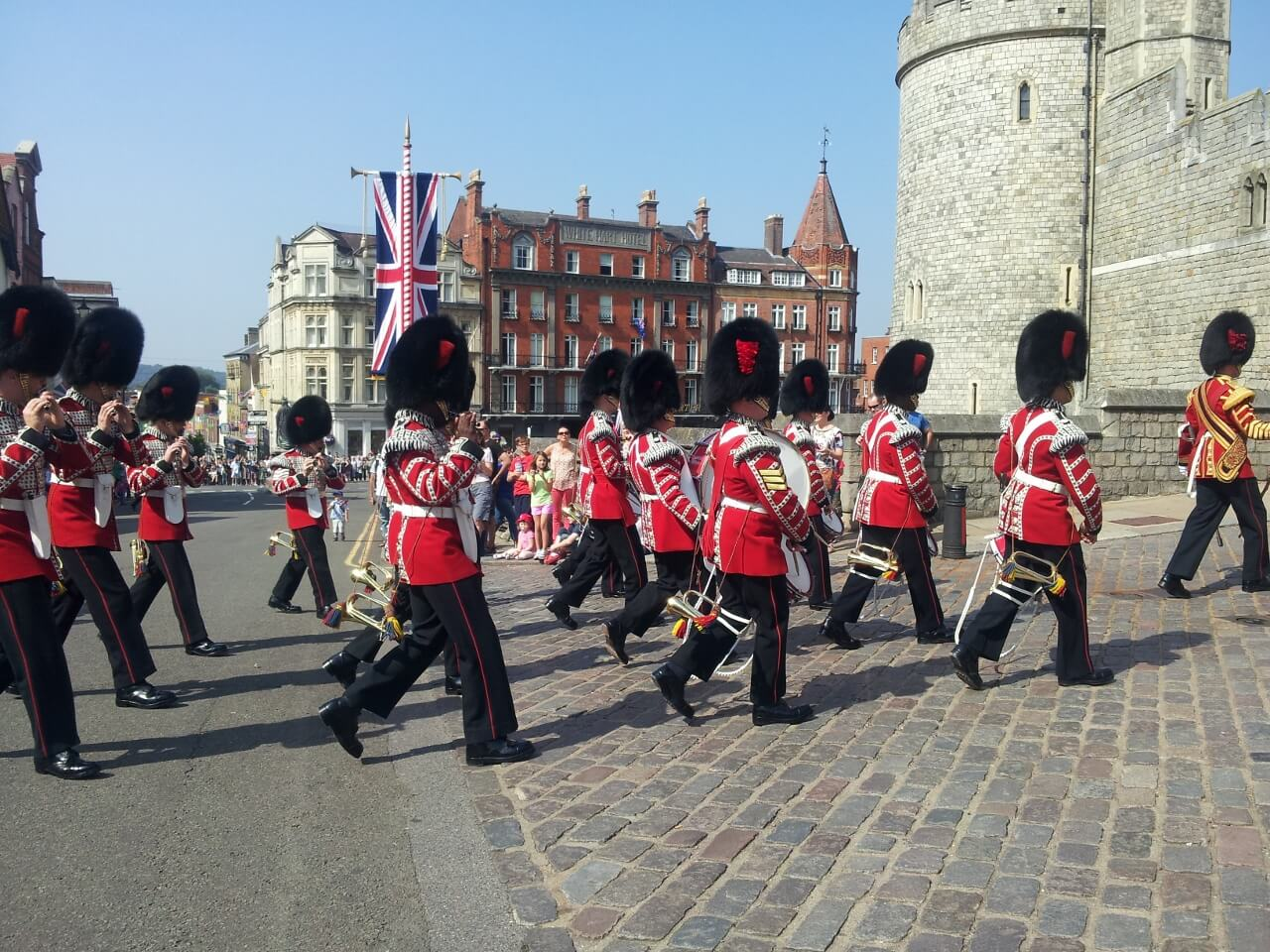 Changing of the Guard entering Windsor Castle
