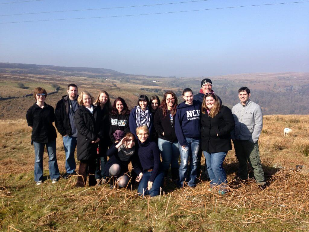Educational tour group in the Brecon Beacons in Wales