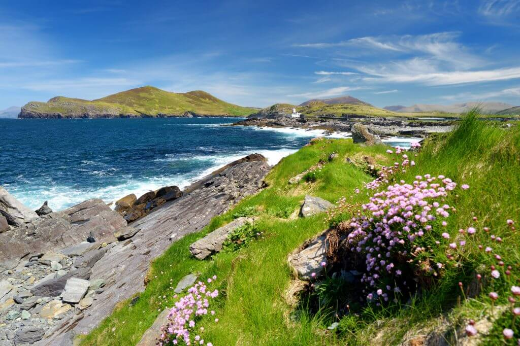 Cromwell Point on Ring of Kerry, Ireland on sunny day.